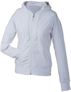 Ladies Hooded Jacket - weiß
