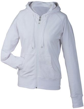 Ladies Hooded Jacket - weiß