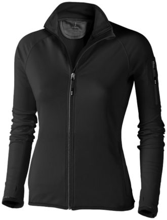 Damen Mani Power Fleece Jacke - schwarz