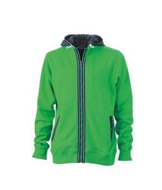 Mens Hoodie - fern-green/navy