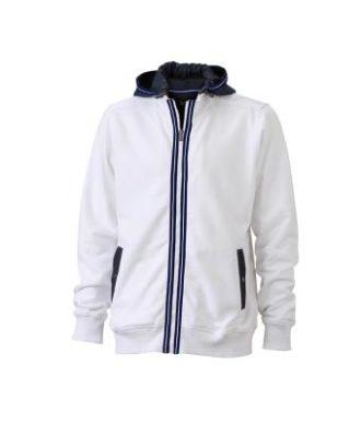 Mens Hoodie - white/navy