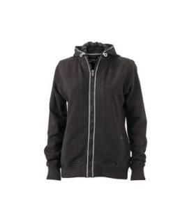 Ladies Hooded Jacket - black/black