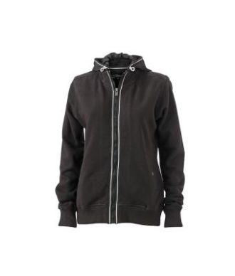 Ladies Hooded Jacket - black/black