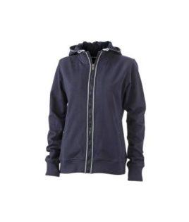 Ladies Hooded Jacket - navy/navy