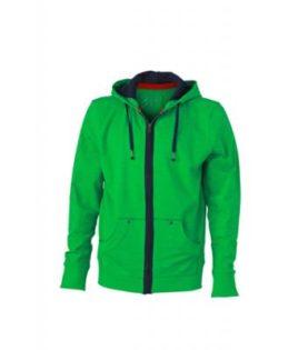 Mens Urban Sweat Hoody - fern-green/navy