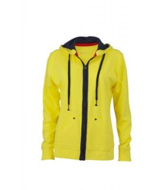 Ladies Urban Sweat - yellow/navy