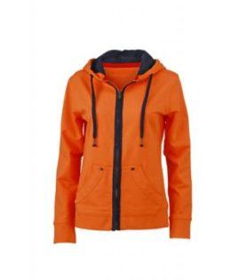 Ladies Urban Sweat - orange/navy