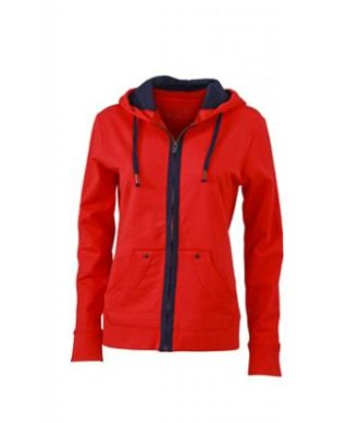 Ladies Urban Sweat - tomato/navy