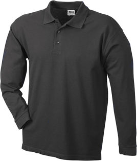 Werbeartikel Poloshirt Langarm Heavy - black