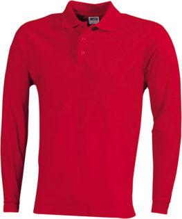 Werbeartikel Poloshirt Langarm Heavy - red