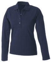 Damen Werbeartikel Poloshirt Langarm Elastic