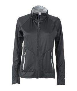 Ladies Basic Fleece Jacket - black/silver