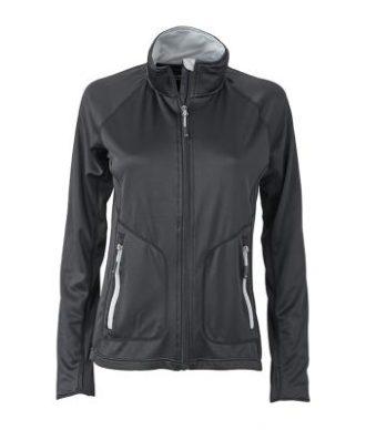 Ladies Basic Fleece Jacket - black/silver