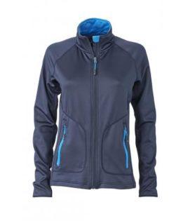 Ladies Basic Fleece Jacket - navy/cobalt