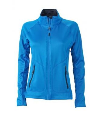 Ladies Basic Fleece Jacket - cobalt/navy