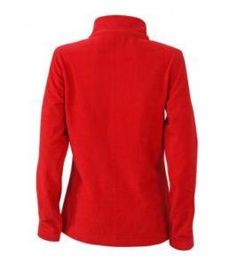 Ladies Basic Fleece Jacket - rotRückenansicht