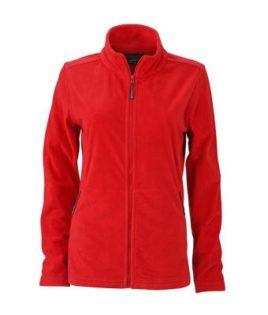 Ladies Basic Fleece Jacket - rot