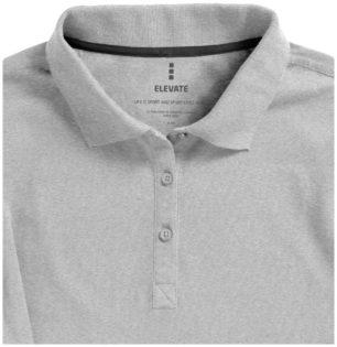 Oakville Damen Poloshirt ELEVATE - grau meliertmit Knopfleiste