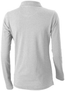 Oakville Damen Poloshirt ELEVATE - grau meliertRückenansicht
