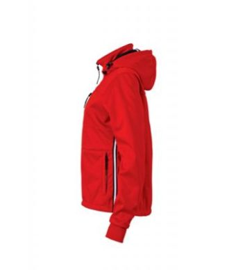 Ladies Maritime Jacket James & Nicholson - red / navy / white