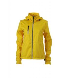 Ladies Maritime Jacket James & Nicholson - sun yellow / navy / white