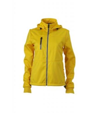 Ladies Maritime Jacket James & Nicholson - sun yellow / navy / white