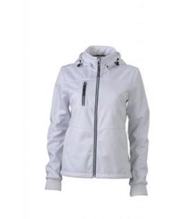 Ladies Maritime Jacket James & Nicholson - white / white / navy
