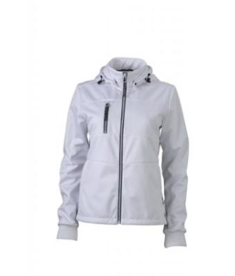 Ladies Maritime Jacket James & Nicholson - white / white / navy