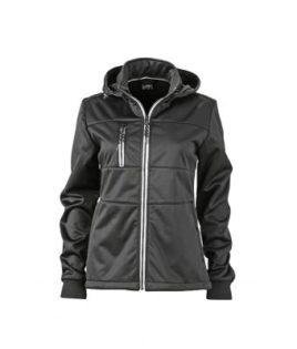 Ladies Maritime Jacket James & Nicholson - black / black / white
