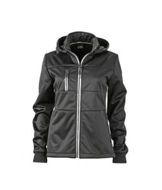 Ladies Maritime Jacket James & Nicholson - black / black / white