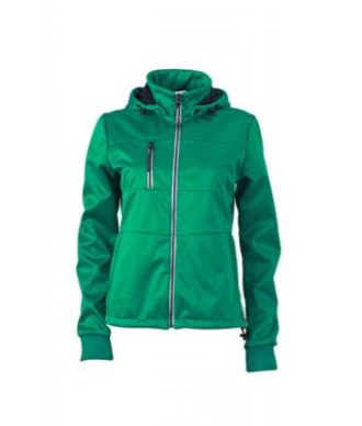 Ladies Maritime Jacket James & Nicholson - irish green / navy / white
