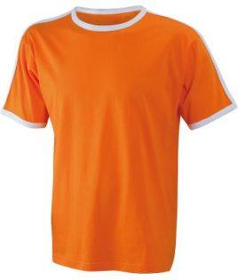 Mens Flag T James & Nicholson - orange/white