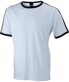 Mens Flag T James & Nicholson - white/black