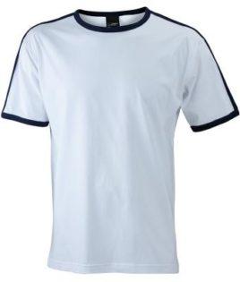 Mens Flag T James & Nicholson - white/navy