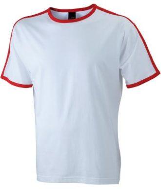 Mens Flag T James & Nicholson - white/red