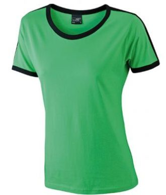 Ladies Flag T James & Nicholson - frog/black