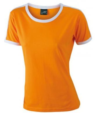 Ladies Flag T James & Nicholson - orange/white