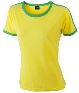 Ladies Flag T James & Nicholson - yellow/frog