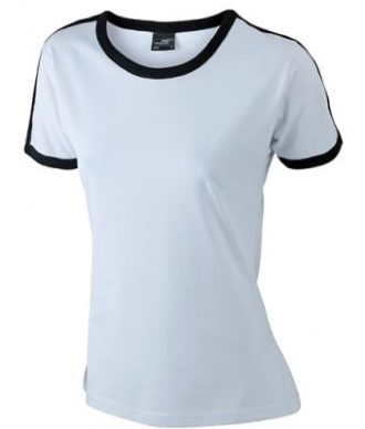 Ladies Flag T James & Nicholson - white/black