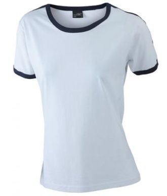 Ladies Flag T James & Nicholson - white/navy