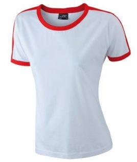 Ladies Flag T James & Nicholson - white/red
