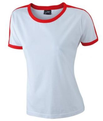 Ladies Flag T James & Nicholson - white/red