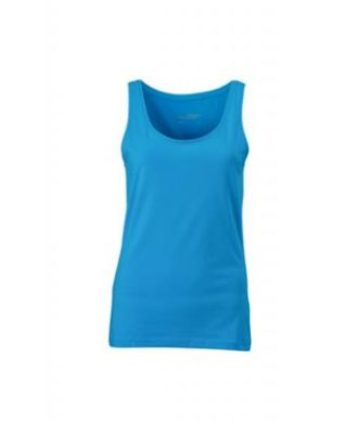 Ladies Elastic Top James & Nicholson - turquoise