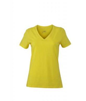 Ladies Stretch V T James & Nicholson - yellow