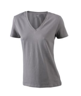 Ladies Stretch V T James & Nicholson - charcoal