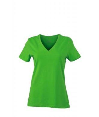 Ladies Stretch V T James & Nicholson - lime green