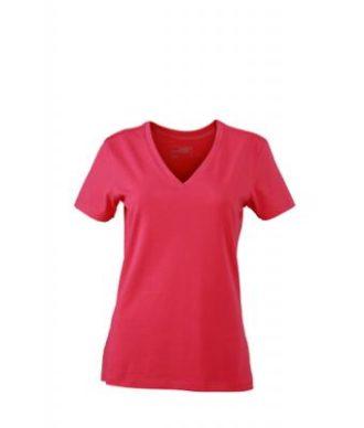 Ladies Stretch V T James & Nicholson - pink