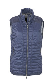 Ladies Lightweight Vest James & Nicholson - navy/silver