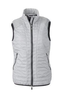 Ladies Lightweight Vest James & Nicholson - silver/black
