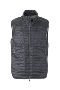 Mens Lightweight Vest James & Nicholson - black/silver